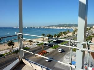 Vistas a la Bahía de Palma desde la futura terraza de la cafetería