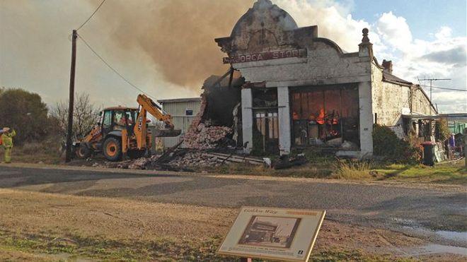 Majorca G Store in fire