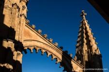 La recargada ornamentación de este pináculo y de su arbotante, tan propias de un gótico tardío, no restan potencia, ni belleza a la vistosa estructura