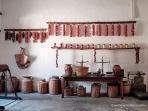 Agradable orden estético de la zona de preparación de pimentón.