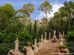 Escalera de Apolo en los jardines de Raixa, mandados construir por el Cardenal Despuig, hermano del Conde de Montenegro.