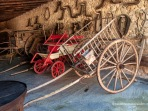 Carretas y galeras, medios de transporte de cargas y personas durante muchos siglos en Mallorca. Es Calderers.