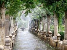 Galería de hidrías para juegos de agua en Alfàbia.
