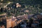 Vista parcial de Fornalutx, a la izquierda se encuentra la Torre almenada de Can Arbona.