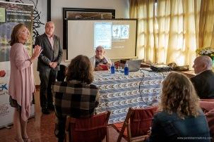 Mª Antonia Bauzá, Diego Zaforteza y el Historiador Jaume Llabrés se dirigen a los presentes en la apertura de las Jornadas