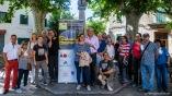 Los Historiadores Irene Cabrer y Tomàs Vibot, Junto a Diego Zaforteza y demás participantes a la visita a los jardines privados de Sóller