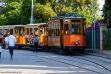 El famoso tranvía de madera que comunica el pueblo de Sóller con su Puerto