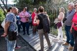 La Historiadora Irene Cabrer explica a los asistentes la génesis de los jardines privados de las casas sollerenses