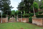 Detalle del jardín rehundido