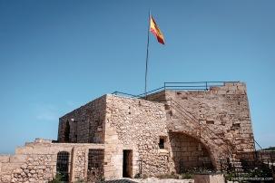 Coronación del Castillo desde la que se pueden observar unas vistas fantásticas de la ensenada