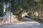 Uno de los extremos del camino de acceso a Biniagual.